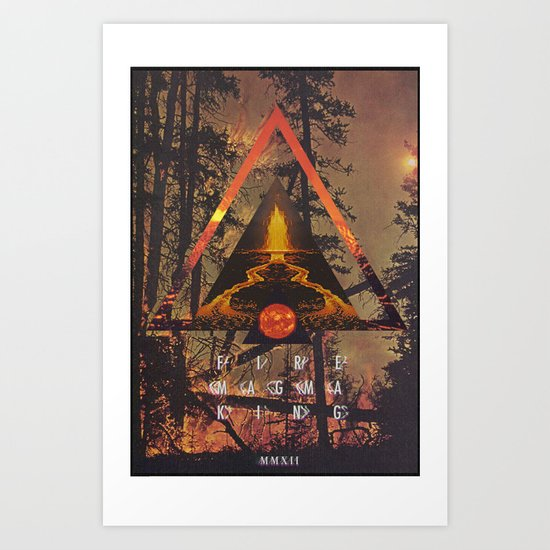 MYSTIC//FIRE Art Print