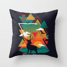 New Ridges Throw Pillow