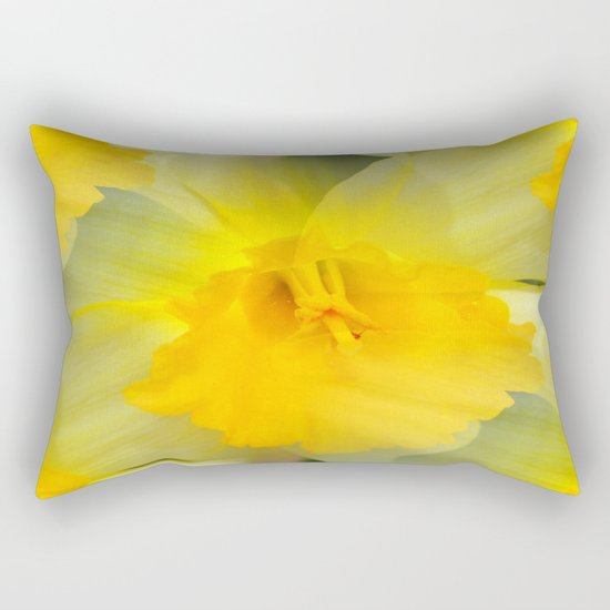 Endless Yellow Daffodil Rectangular Pillow