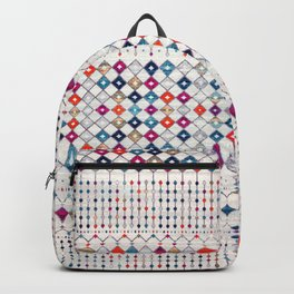 -A14- Lovely Colored Traditional Moroccan Texture Backpack