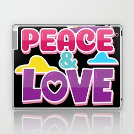 Peace And Love Laptop & iPad Skin