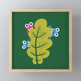 Bugs Eat Green Leaf Framed Mini Art Print