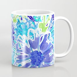Indigo Floral Splash Coffee Mug