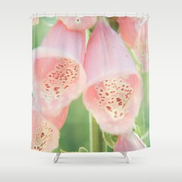 Pastel Foxgloves Shower Curtain