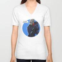 garrus V-neck T-shirts featuring Garrus by Pulvis