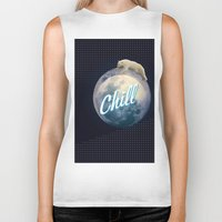 chill Biker Tanks featuring Chill by Isaak_Rodriguez