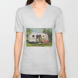 Vintage Airstream Unisex V-Neck