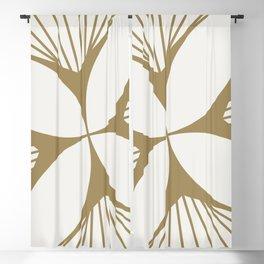 Diamond Series Floral Diamond Twist Gold on White Blackout Curtain