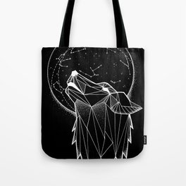Wolf howling II Tote Bag
