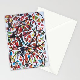 The Net- Mixed Media Abstract  Stationery Cards