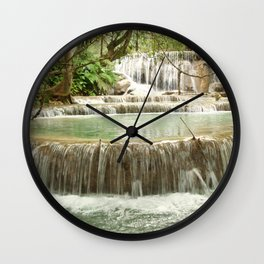 Zen Waterfalls Harmony Wall Clock