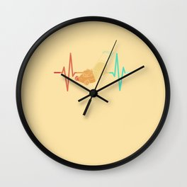 Lawn Mowing Lawn Mower Heartbeat ECG Wall Clock