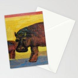 Hippopotamuses Stationery Cards