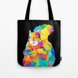 Geometric Squirrel Tote Bag