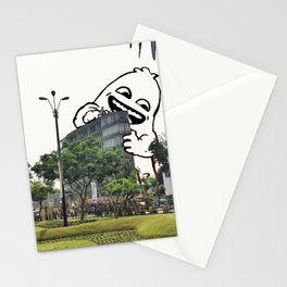 A friend came to visit Miraflores #eclecticart Stationery Cards