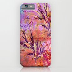 Pineappel tropical fruit colorful illustration iPhone 6s Slim Case