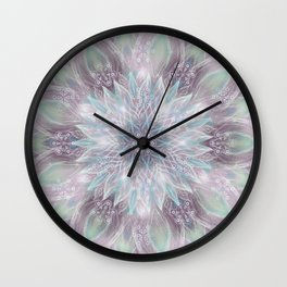 Lavender swirl pattern Wall Clock