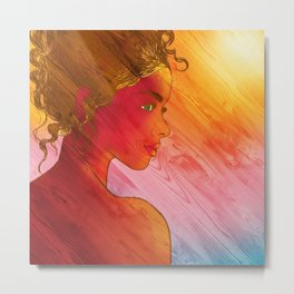 Independent Woman Sunset Metal Print