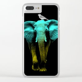 Friends for Life fluro Clear iPhone Case