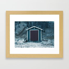 A Jagged Gorgeous Winter Framed Art Print