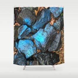 NVSV SPCS_blue rocks Shower Curtain