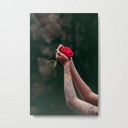 Rose Tattoo Metal Print