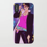 jjba iPhone & iPod Cases featuring Jotaro Kujo by Meex Art