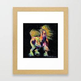 Gypsy Gold Pony Framed Art Print