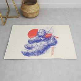 A Calm Song - Cute Musician Sloth Gift Rug
