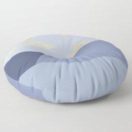 A Blue Landscape  Floor Pillow