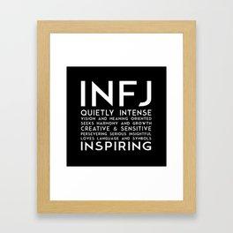INFJ (black version) Framed Art Print