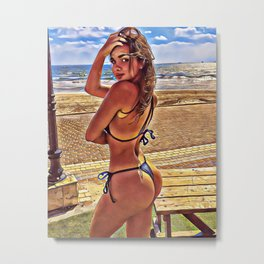 Ocean in your eyes Metal Print