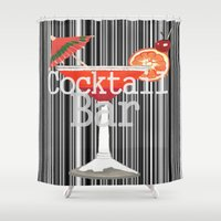 cocktail Shower Curtains featuring Cocktail Bar by Sartoris ART