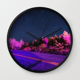 Emergency Skies Wall Clock