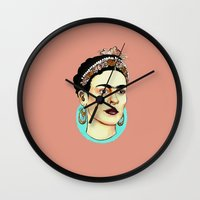 frida Wall Clocks featuring Frida by penelopemars