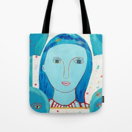 Recycle Queen Blue Tote Bag