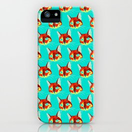 justin bobby the cat portrait iPhone Case