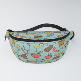 Food Frenzy blue #homedecor Fanny Pack