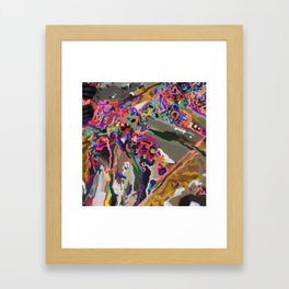 A Shimmering, a Froth Framed Art Print