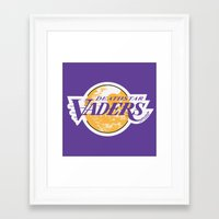 lakers Framed Art Prints featuring L.A. Vaders by Ant Atomic