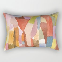 Movement Of Vaulted Chambers by Paul Klee 1915 Rectangular Pillow