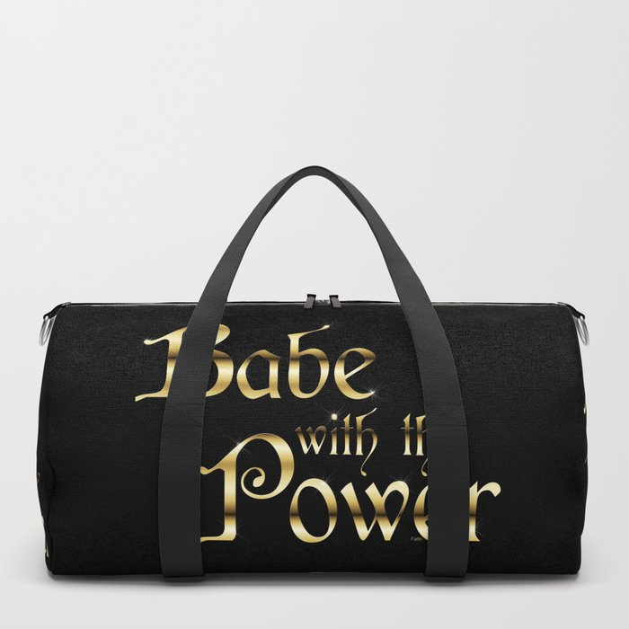 Labyrinth Babe With The Power (black bg) Duffle Bag