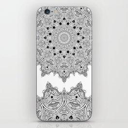 Stars and Stripes - Patriotic Mandala - Black and White - 'Merica! iPhone Skin