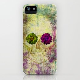 Hipster Skull Urban Grunge Watercolors iPhone Case