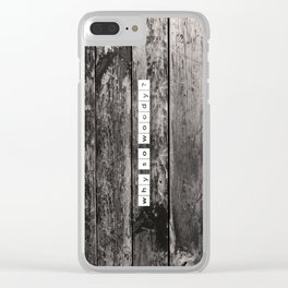 why so woody Clear iPhone Case