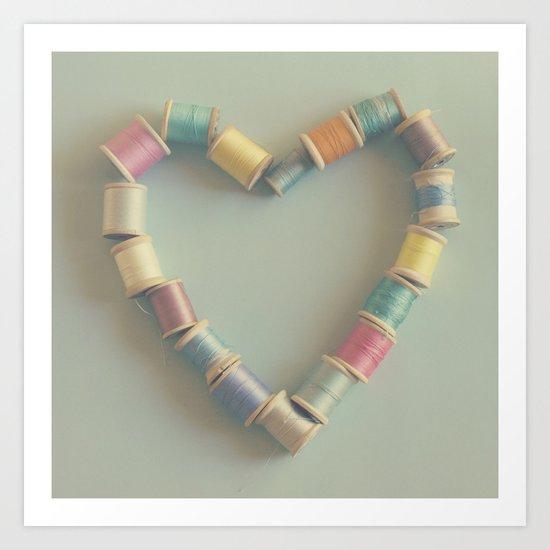 sew in love Art Print