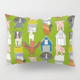 farm pop green Pillow Sham