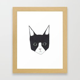 Henry the Tuxedo Cat Framed Art Print