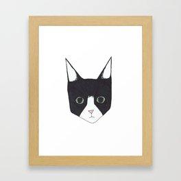 Henry the Tuxedo Cat Framed Art Print