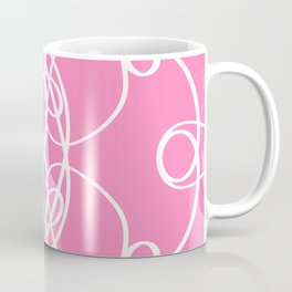 Pink White Swirl Coffee Mug